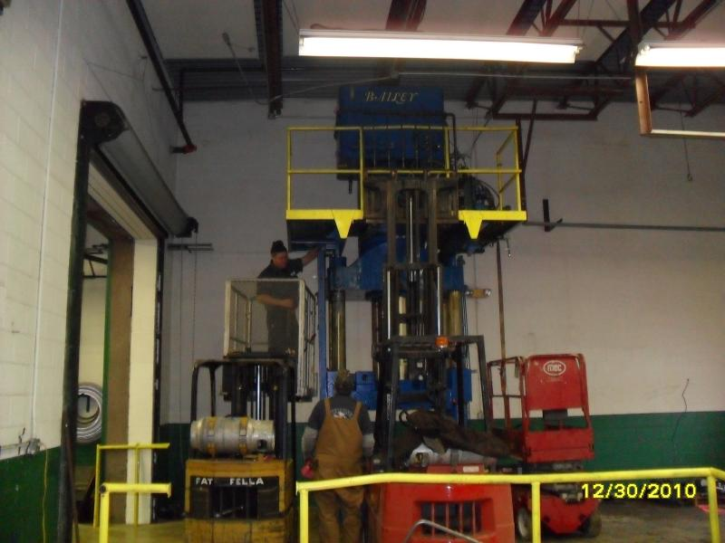 Installing 300 Ton Press Newark Ohio