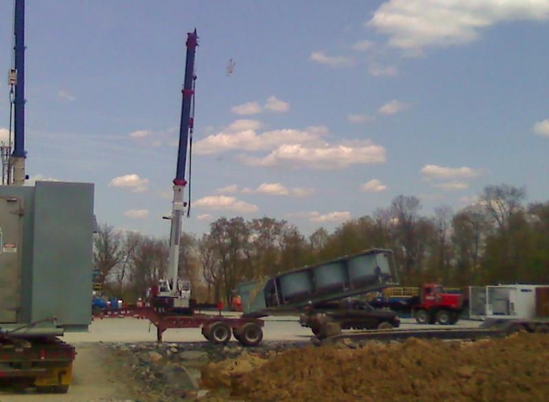 Setting up drilling rig for marselus gas